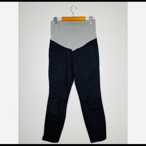 NWOT Thyme Maternity Black Straight Pants Small